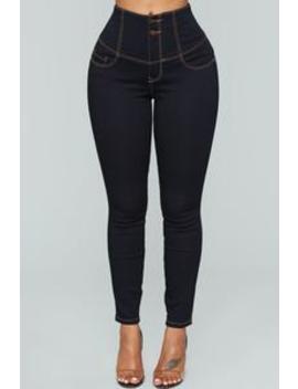 Miranda Waist Sculpting Jeans   Dark Denim by Fashion Nova