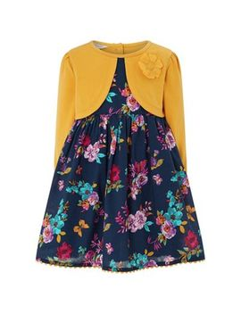Monsoon   Girls' Yellow 'agatha' 2 In 1 Dress by Monsoon