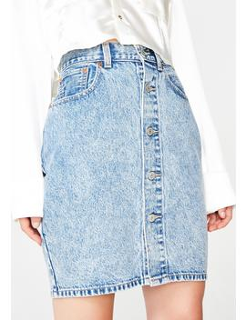 Button Thru Mom Skirt by Levis