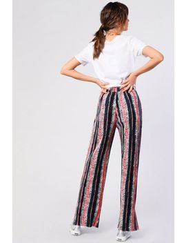**Stripe Plisse Trousers By Glamorous Petites by Topshop