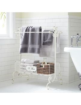 Antique White Towel Rack by Le Bain Collection