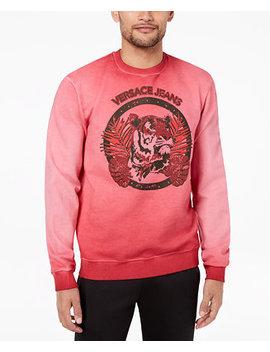 Men's Graphic Print Sweatshirt by Versace