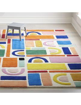 Building Blocks Rainbow Rug 4'x6' by Crate&Barrel