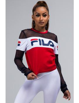 Fila Tara Crop Long Sleeve Top by Akira