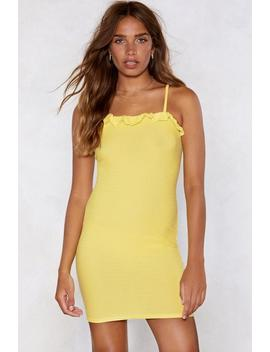 Guess What We Shirred Mini Dress by Nasty Gal