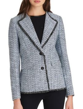 Notched Tweed Jacket by Karl Lagerfeld Paris