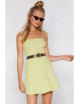 You've Got This Tie Dress by Nasty Gal