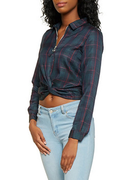 Plaid Twist Front Top by Rainbow