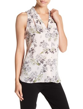 Storybook Floral Sleeveless Blouse (Petite) by Vince Camuto
