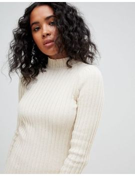 Asos Design Midi Dress In Ribbed Knit by Asos Design
