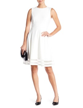 Illusion Bottom Fit & Flare Dress by Modern American Designer