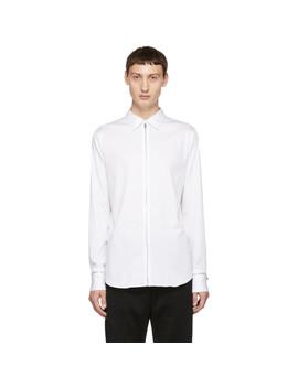 White Poplin Zip Shirt by Alexander Mcqueen
