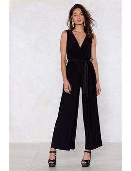 Good Pleats Bad Wide Leg Jumpsuit by Nasty Gal