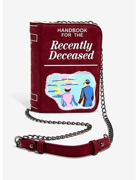 Beetlejuice Handbook For The Recently Deceased Crossbody Bag by Hot Topic
