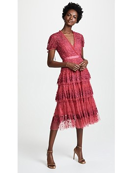 Layered Lace Dress by Needle & Thread
