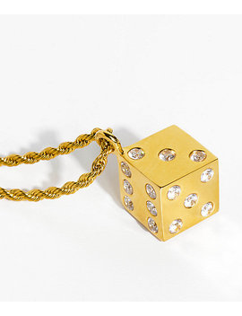 Han Cholo Gold Dice Pendant Necklace by Han Cholo