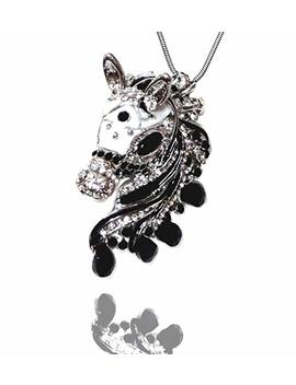 "Diana L Boutique Gorgeous Horse 3 D Pendant And Necklace On 21"" Chain Enamel Crystals Gift Boxed Fashion Jewelry by Diana L Boutique"