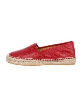Gucci Guccissima Leather Espadrilles W/ Tags by Gucci