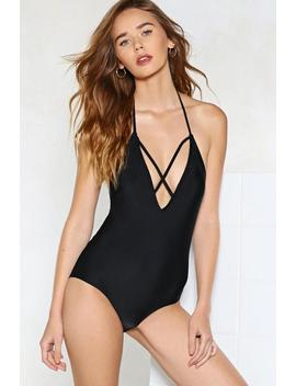 Cross My Heart Strappy Swimsuit by Nasty Gal