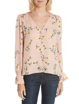 Bolona Peasant Sleeve Silk Top by Joie