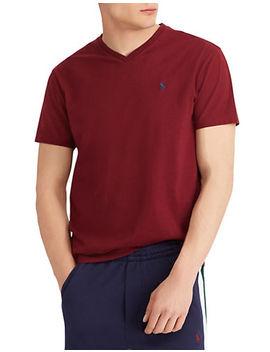 Short Sleeve Jersey V Neck T Shirt by Polo Ralph Lauren