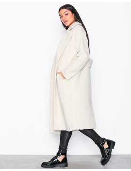 Longline Borg Coat by Missguided