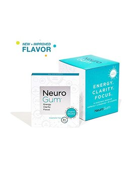 Neuro Gum Nootropic Energy Gum | Caffeine + L Theanine + B Vitamins | Sugar Free + Gluten Free + Non Gmo + Vegan | Enlighten Mint Flavor (54 Count) by Neuro Gum
