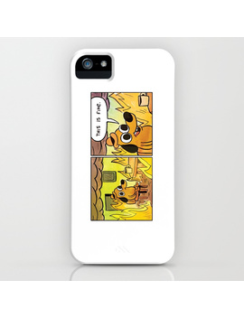 This Is Fine Meme Dog Drinking Coffee Cup In A Room On Fire I Phone Case by