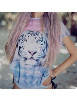 Wildfox Oversized Tiger Island Tee Xs by Wildfox