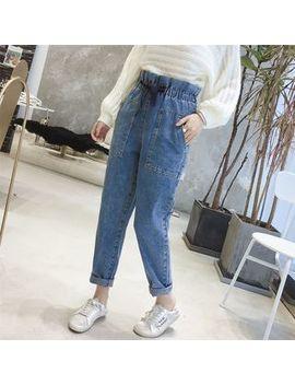 Tie Waist Straight Cut Jeans by Minami