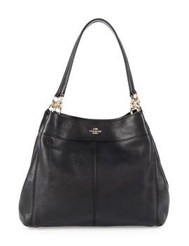F57545 Black Leather Shoulder Bag by Coach