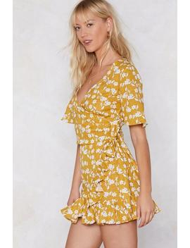 Let's Grow Floral Crop Top And Skirt Set by Nasty Gal