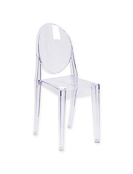 Flash Furniture Ghost Side Chair In Transparent Crystal by Bed Bath And Beyond