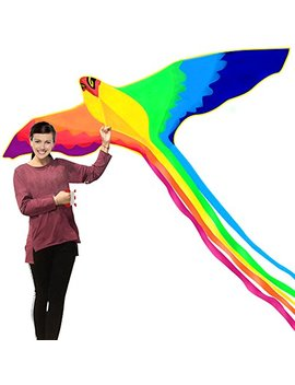 Hengda Kite Strong Phoenix With Long Colorful Tail!Huge Beginner Phoenix Kites For Kids And Adults 74 Inch Come With String And Handle by Hengda Kite