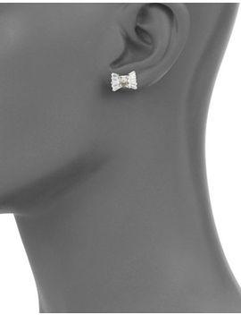 Le Soir Bow Stud Earrings by Kate Spade New York