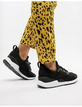 Puma   Muse   Baskets   Noir Satiné by Puma