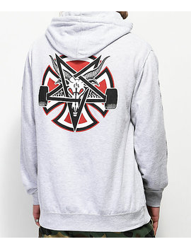 Independent X Thrasher Pentagram Grey Hoodie by Independent