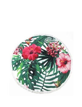 Tropical Flower Paradise Circle Towel by Nobia