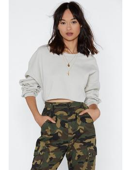 You Can Make Knit Cropped Sweater by Nasty Gal