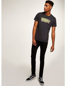 Black Coated Spray On Jeans by Topman
