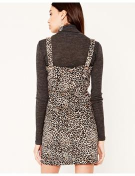 Leopard Button Back Dress by Glassons