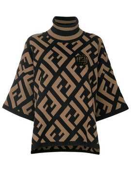 Logo Flared Turtle Neck Sweater by Fendi