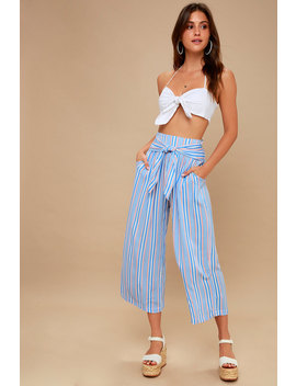 Tapas Red, White, And Blue Striped Wide Leg Pants by Lulu's
