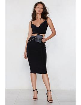Cowl Deep Is Your Love Crop Top And Midi Skirt Set by Nasty Gal