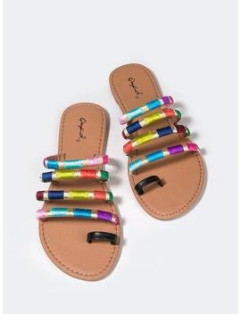 Rainbow Strappy Slides by Zooshoo