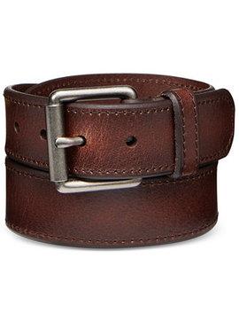 Men's Beveled Edge Leather Belt by Levi's