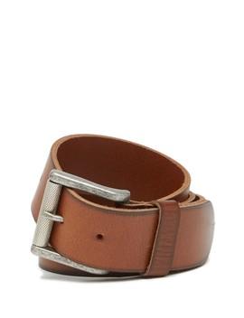 Burnished Edge Leather Belt by 1901
