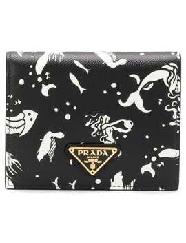 Pradamermaid Print Mini Wallethome Women Prada Accessories Wallets & Purses by Prada