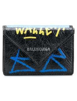 Balenciaga Paper Mini Scribble Wallethome Women Balenciaga Accessories Wallets & Purses by Balenciaga