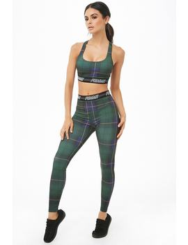 Active Plaid Leggings by Forever 21